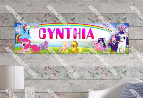 Personalized/Customized My Little Pony Name Poster Wall Art Decoration Banner