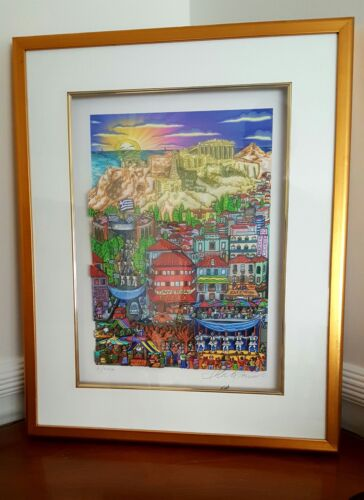 RARE SIGNED AND FRAMED DELUXE 3D EDITION CHARLES FAZZINO ATHENS OLYMPICS