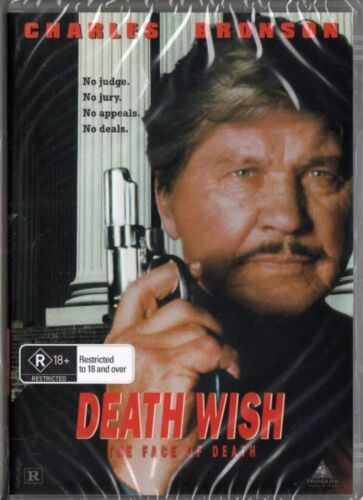 Death Wish 5 Face of Death Charles Bronson DVD New and Sealed Australia all Reg