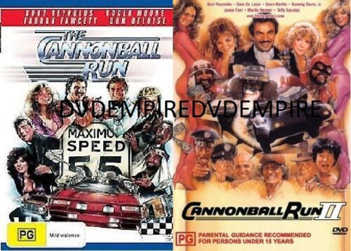 The Cannonball Run part 1&2 II DVD set New and Sealed Australia Region 4