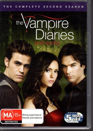 THE VAMPIRE DIARIES The Complete Second Season 5-Disc Set (2011) VG FREE POST