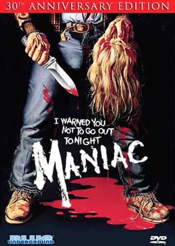 Maniac (1980 Joe Spinell) (2 Disc, 30th Anniversary Edition) DVD NEW