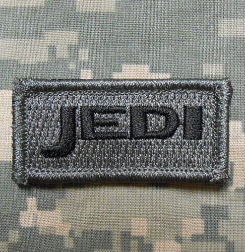 JEDI TACTICAL ARMY MORALE TAB USA MILITARY INFIDEL BADGE ACU DARK VELCRO PATCH