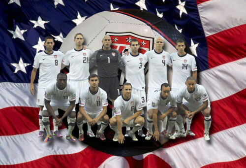 Men's Soccer Team Poster/United States /13x19 inch