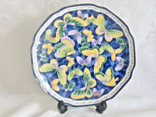 BEAUTIFUL CHINESE  HAND DECORATED PORCELAIN  ENAMELLED CABINET PLATE