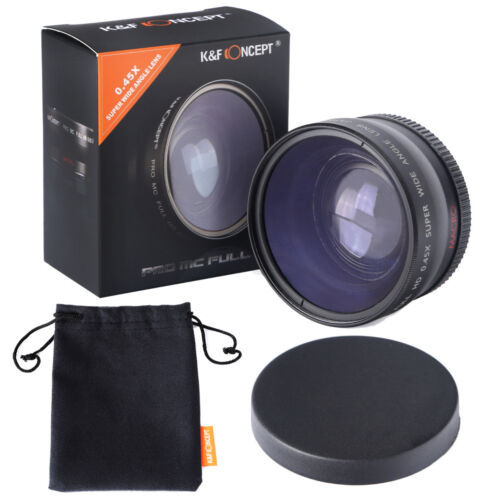 K&F Concept 52mm 0.45X High Definition Multi-coated Wide-angle lens for Canon