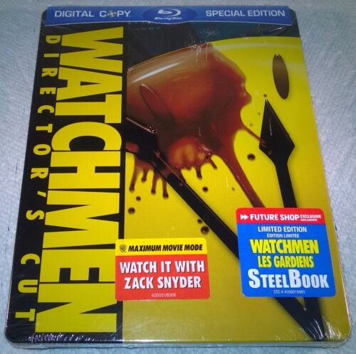 Watchmen (2009 Canada, Region Free) 1st Print Futureshop Exclusive Steelbook NEW