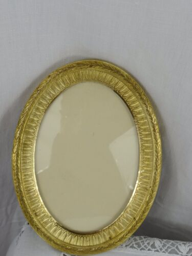 Gorgeous Antique French Empire Style Ormolu Gilt Bronze Picutre Oval  Frame  <br/>Picture Frames - 40024