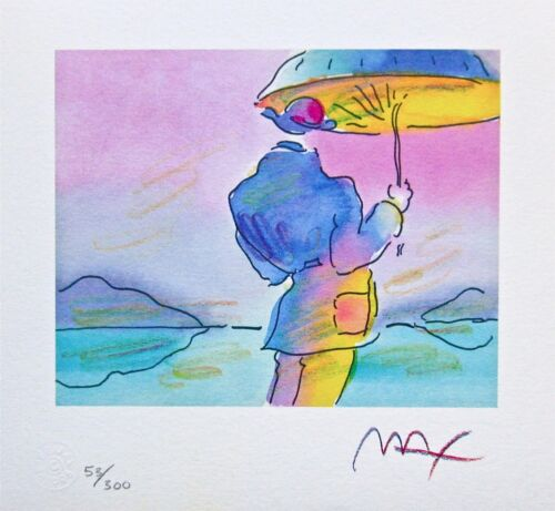Umbrella Man, Limited Edition Lithograph, Peter Max - SIGNED with COA
