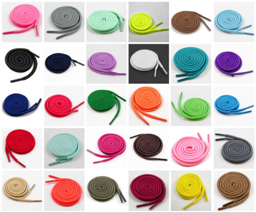 4mm ROUND SHOE LACES 70cm - 180cm *34 COLOURS* TRAINERS BOOTS REPLACEMENT PAIR  <br/> ADD 3 PAIRS PAY FOR ONLY 2!  PAID FOR IN 1 TRANSACTION!
