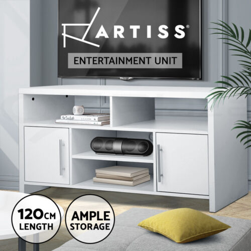 TV Stand Entertainment Side Cabinet Unit Storage Drawers Cupboard Shelf 120cm <br/> 20% off with code PLAZA. Ends 30 May. T&amp;Cs apply