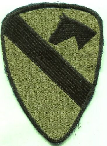 Vietnam Era US Army 1st Cavalry Patch OD Subdued Cut EdgePatches - 104015