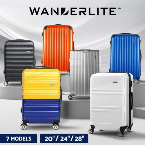 Wanderlite 1pc 2pc 3pc Luggage Suitcase Trolley Set TSA Hard Case Lightweight <br/> Summer sale! Big offer only this week! Save up to 60%!