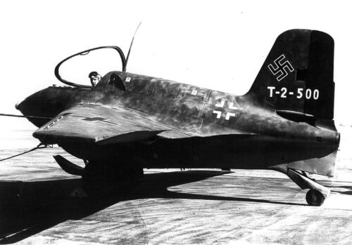 B&W WWII Photo German Luftwaffe Messerschmit Me 163 Komet  WW2 World War Two Photographs - 104000