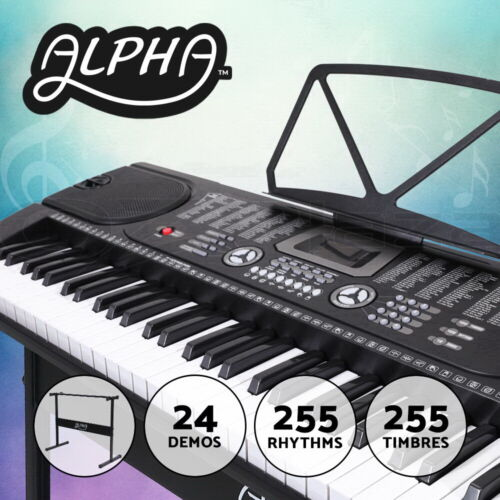 ALPHA 61 Keys Electronic Piano Keyboard LED Electric Holder Music Stand Adaptor <br/> ♪Comfortable touch ♪Sounds perfect ♫Fast shipping