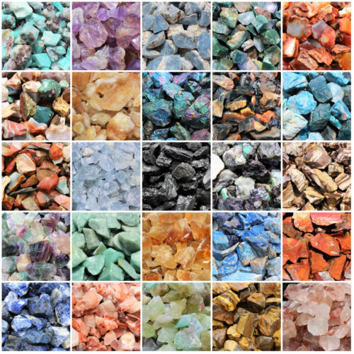 Natural Rough Stones Rocks - Huge Choice - Bulk Lots Lbs or Oz Cabbing Tumbling <br/> BUY 3 GET ANOTHER 1 FREE - 4 IN CART - FREE SHIPPING!