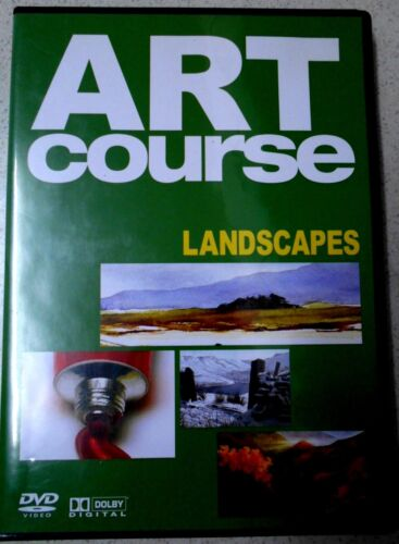 ART COURSE - LANDSCAPES, ACRYLICS & PASTELS - LIKE NEW  DVD - All Regions/Pal