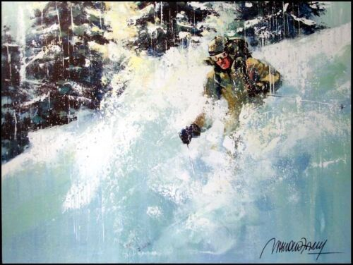 """Malcolm Farley """"Afternoon Storm""""ski Hand Signed giclee on Canvas Make an Offer"""