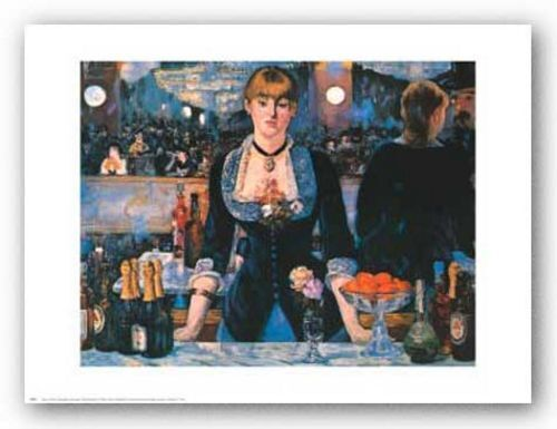 RESTAURANT ART PRINT Bar at the Folies Bergere Edouard Manet 30x24