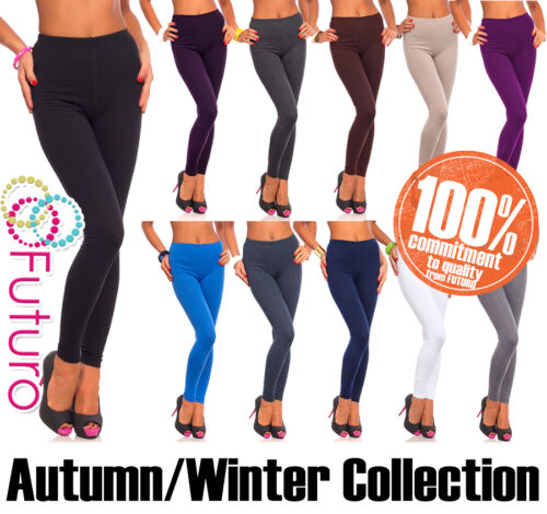 Thick Cotton Leggings Various Types of Thickness Full Length Sizes and Colours <br/> THICK - NOT SEE THROUGH - PREMIUM QUALITY - UK STOCK