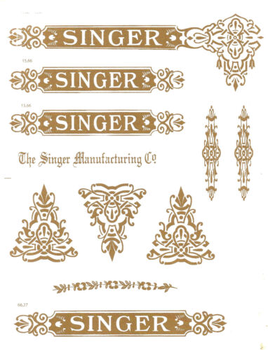 Singer Model 27/127 Celtic Style  Sewing Machine  Restoration Decals<br/>Other Sewing Collectibles - 114