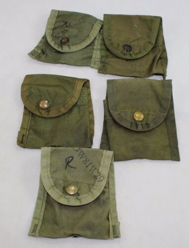 5 Vintage Vietnam Era 1st First Aid Bandage Pouch ALICE Web Gear US Army USMCPersonal, Field Gear - 36065