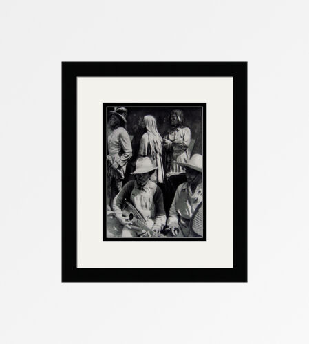 "Charming CARTIER-BRESSON Antique 1930s Photogravure ""Music of Mexico"" FRAMED COA"