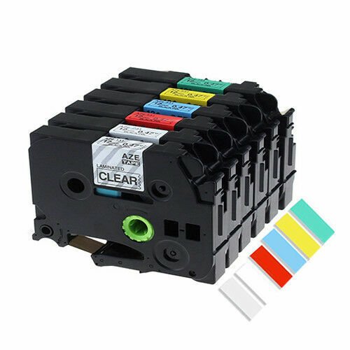 Compatible Brother P-touch Label Tapes with 6mm, 9mm, 12mm, 24mm, 36mm TZe231