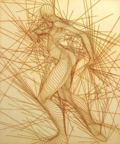 """Guillaume Azoulay """"Basic"""" Signed Numbered ltd. ed. Rare Art Etching of figure"""