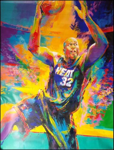 """Malcolm Farley """"SHAQUILLE O'NEAL"""" basketball player Original paintings canvas"""