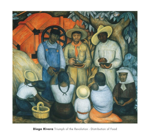 Triumph of the Revolution Distribution of Food - Diego Rivera Print Poster 27x30