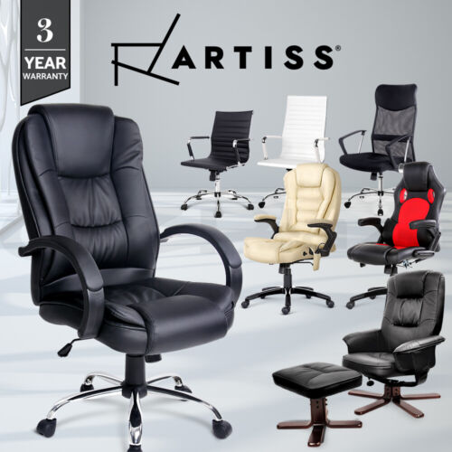 Prime PU PVC Leather Office Mesh Chair Home Computer Desk Executive Racer Lounge <br/> BUY 1 GET 1 AT 5% OFF! 3-Yr Warranty / Premium Material