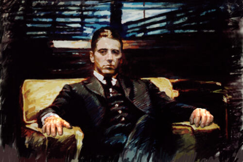 Al Pacino, Godfather, giclee print on canvas 24x36 inch by Star