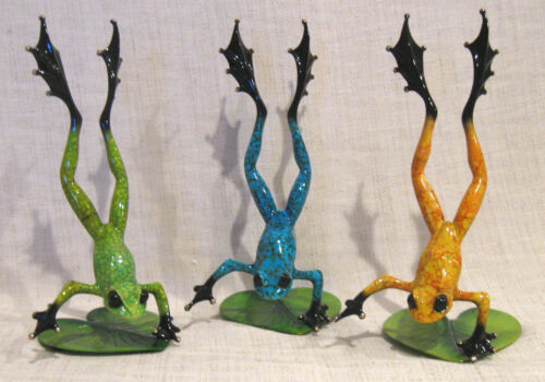 3 Tim Cotterill Bronze Frog Sculptures Whimsy, Zest and Flair Artist Proofs