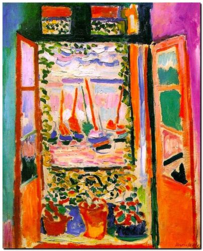 """Henri Matisse CANVAS PRINT The Open Window Painting poster 24""""X16"""""""