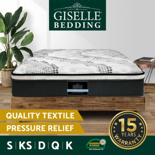 Giselle Bedding Mattress QUEEN DOUBLE KING SINGLE Size Bed Pocket Spring Foam 32 <br/> On Sale NOW✔Buy 1 Get 1@5% OFF✔Top Quality✔Great Saving
