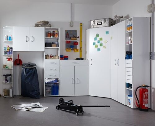 GENIUS &quot;Any Room&quot; Versatile Shelving Storage Cupboard Wardrobe Solution. White. <br/> Brand New Storage Concept - ANY SIZE, ANY ROOM!