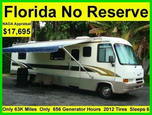 NO RESERVE 1998 GEORGIE BOY SWINGER 33FT CLASS A RV MOTORHOME CAMPER 2012 TIRES <br/> ONLY 63K MILES ONLY 656 GENERATOR HOURS SLEEPS 6