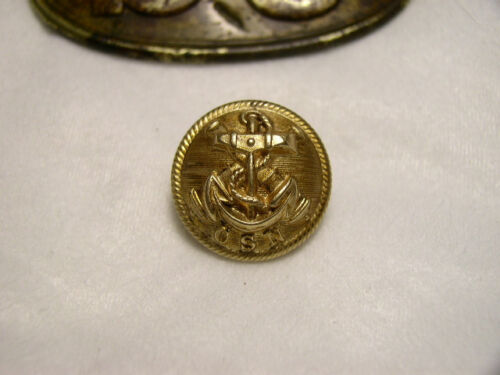 Beautiful Non Dug Confederate Navy Officers Coat ButtonButtons - 36034