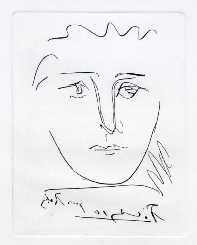 Pablo PICASSO Pour Roby Plate Signed Etching + COA <br/> Free shipping on this best seller!