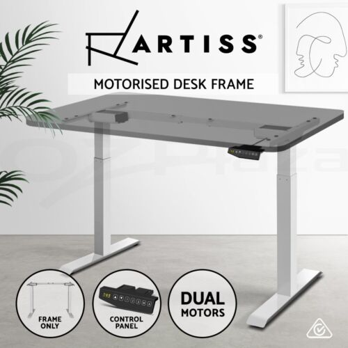 Artiss Height Adjustable Electric Motorised Standing Desk Office Sit Stand Table <br/> ✔Summer Sales✔Buy 1 Get 1 at 5% OFF✔Buy &amp; Save$$ Now