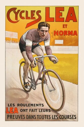 Cycles Lea et Norma Art Print Vintage Bicycle Bike Cycle Race Poster 26x18