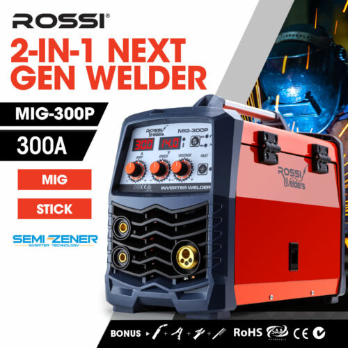 NEW ROSSI Welder Inverter 280 Amp Welding Machine Gas Gasless MIG ARC Portable <br/> 5% OFF may apply! Use code C5AUS in checkout T&amp;Cs apply