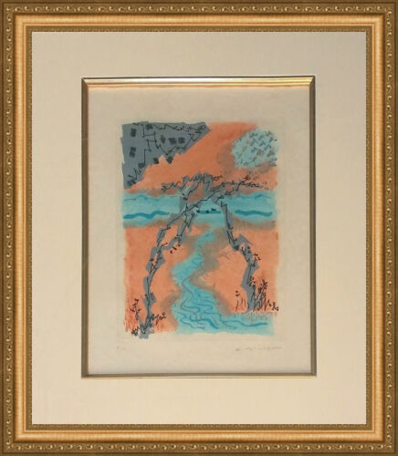 """ANDRE MASSON """"LES EROPHAGES X"""" 1962   RARE SIGNED ETCHING   FRAMED   GALLART"""