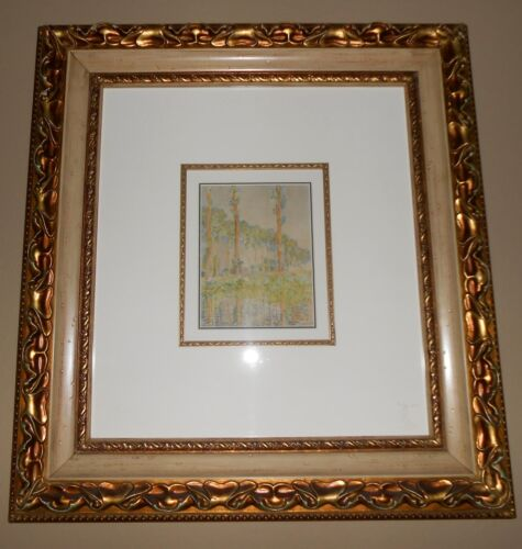 "CLAUDE MONET  ""LES PEUPLIERS""  LITHOGRAPHIC REPRODUCTION IN COLOR ON PAPER"