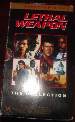 Lethal Weapon The Collection Boxed Set VHS Director's Cut