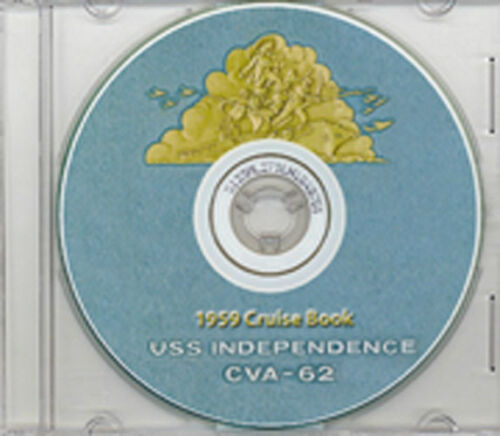 USS Independence CVA 62 1959 Cruise Book CD RAREReproductions - 156443