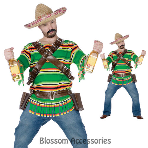 C280 Men Mexican Tequila Party Outfit Halloween Costume