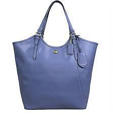 Coach Bag F26103 PEYTON LEATHER TOTE SILVER / PORCELAIN BLUE Agsbeagle COD <br/> Authentic Items Available For Pickup Ready to Ship COD*