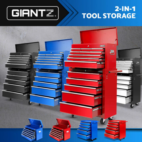 Giantz 5/6/8/9/14/15 Drawer Mechanic Tool Box Cabinet Garage Chest Trolley <br/> 20% off with code PLAZA. Ends 30 May. T&amp;Cs apply